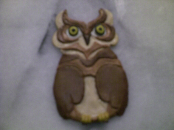 Owl and Pussycat magnet set - Owl